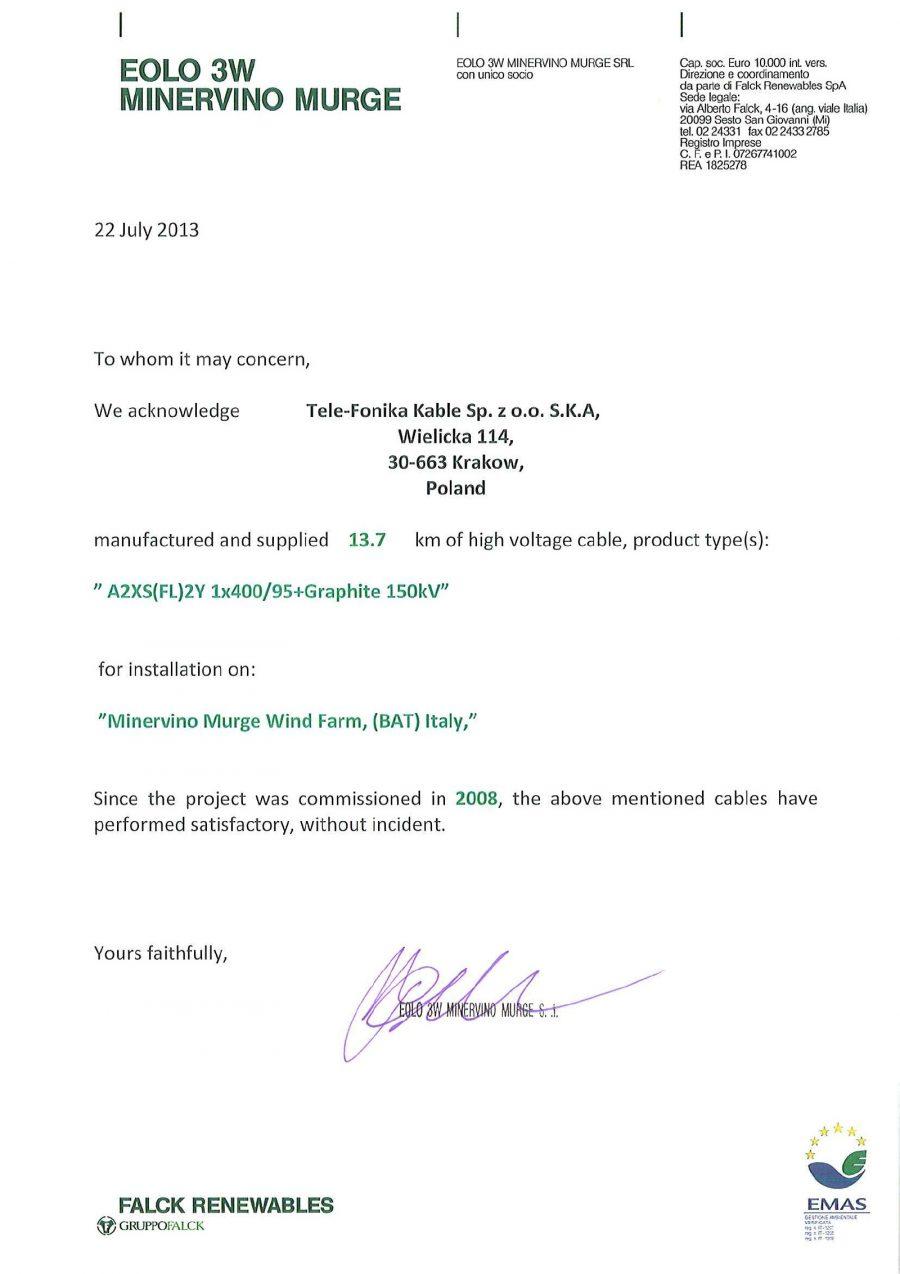 EOLICA SUD - FALCK 2