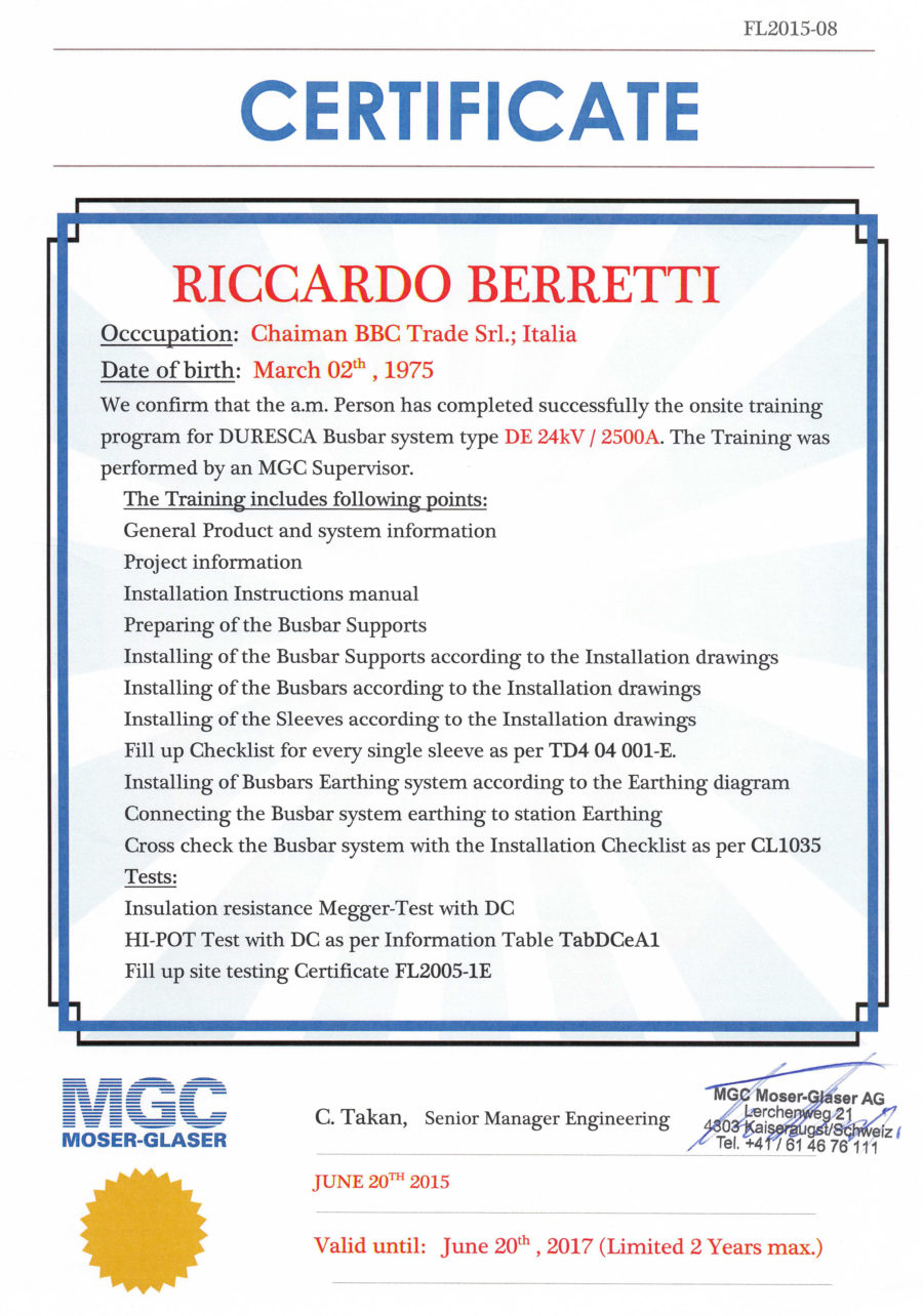 Certificato MGC